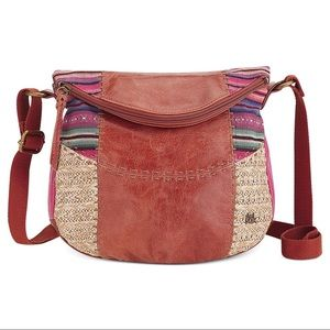 The Sak Deena Leather Boho Embroidered Crossbody
